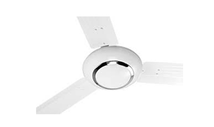 "ORIENT Carina 56"" Ceiling Fan (White with Silver Ring)"
