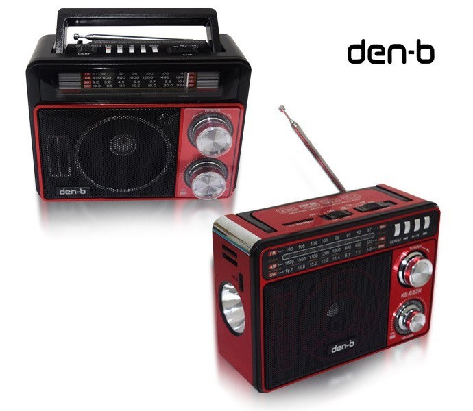 Den-b Radio/Music Player with LED Torch