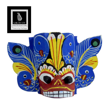 "Wooden Mask (Different) 2"" - Blue"