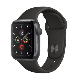 Apple Watch Series 5 GPS 40mm Space Gray Aluminum Case with Sport Band
