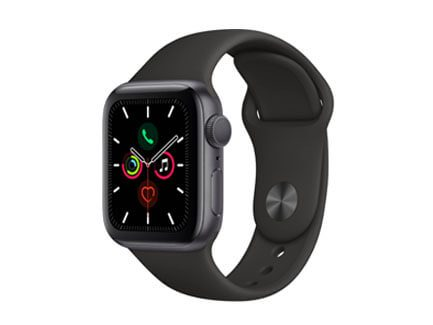 Apple Watch Series 5 40mm Space Gray Aluminum Case Black Sport Band