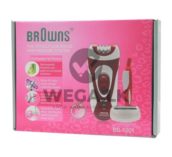 Browns Rechargeable 3 in 1 Hair Remover 1201
