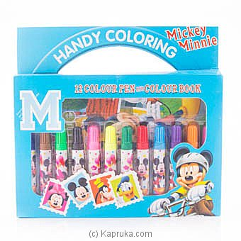 Mickey Mouse Handy Coloring Pen Box(12) and Colour Book