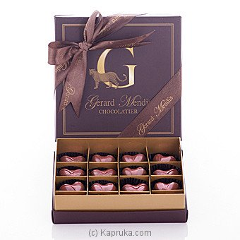 Gerard Mendis Gold Heart Chocolate Box