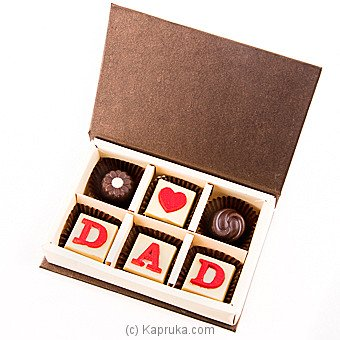 Java Lounge Love You Dad Chocolate Box 6Pcs