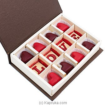 Java Lounge Milk Hearts With Hazelnut Praline Chocolate Box 12Pcs