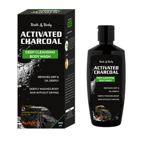 Healthvit Auxano Activated Charcoal Deep Cleansing Body Wash 200ML