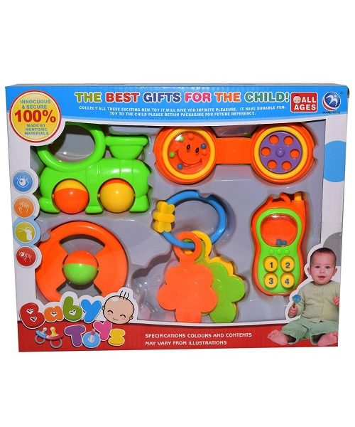 5-In-1 Baby Rattle Set