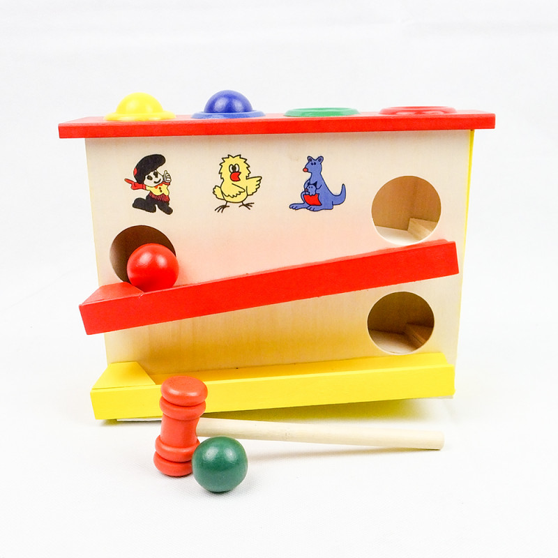Kids Wooden Percussion Hammer Educational Toys