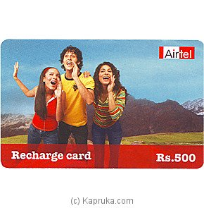 Airtel Recharge Card Rs. 500