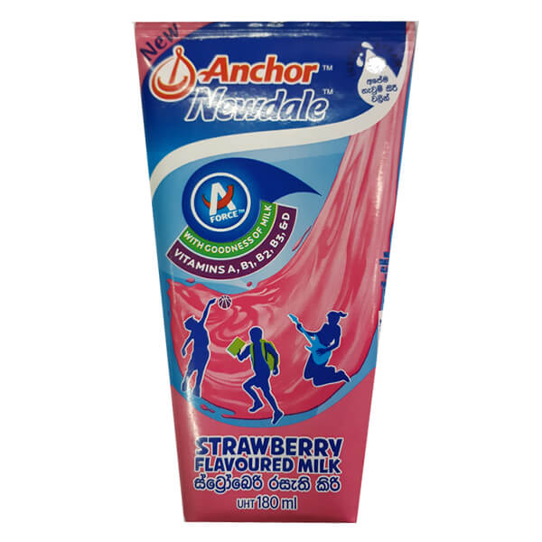 Anchor Newdale Strawberry Milk UHT 180mL