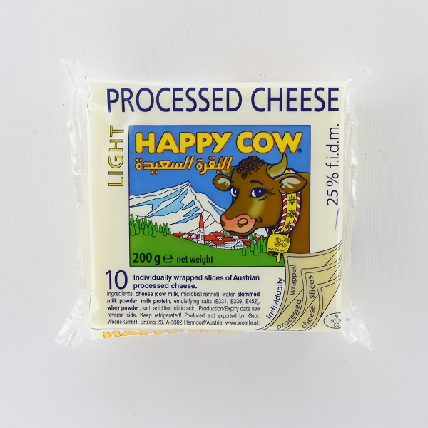Happy Cow Processed Cheese Light 200g