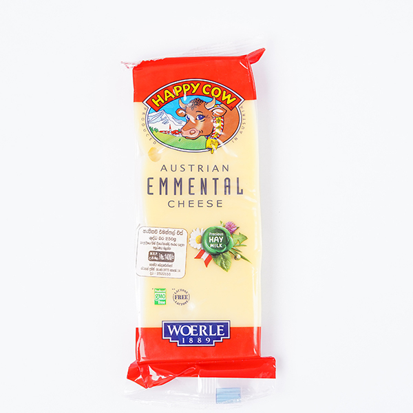 Happy Cow Cheese Emmenthal Block 250g