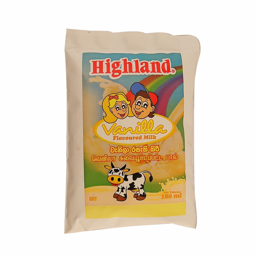 Highland Vanilla Flavoured Milk 180mL