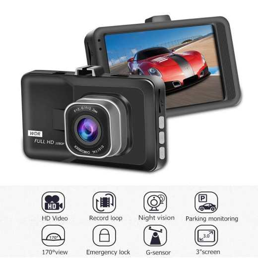 3Inch LCD 1080P HD Car DVR Dash Camera