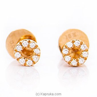 Alankara 18K Rose Gold Earrings With VVS Diamond