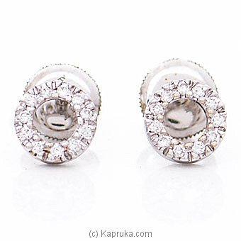 Alankara 18K White Gold Earrings With VVS Diamond