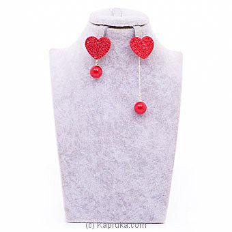 Swarovski Red Heart Ear Stud