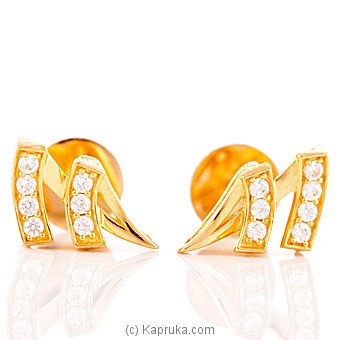 Vogue 22K Gold Ear Stud Set