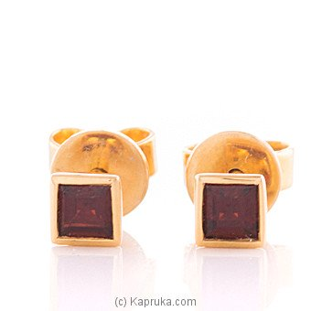 Vogue 18K Gold Ear Stud Set With 2 Color Stone