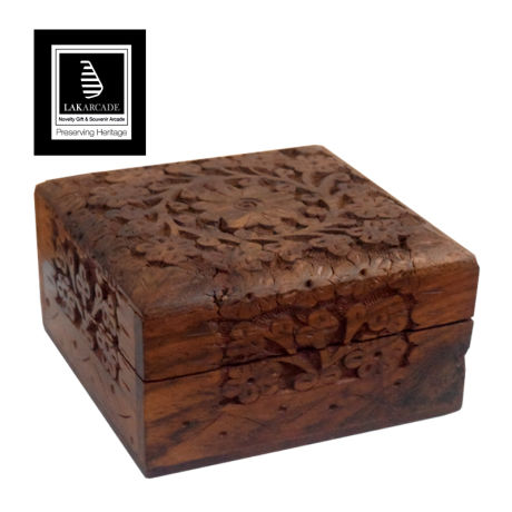 Lakarcade Mara Wooden Full Carving Box