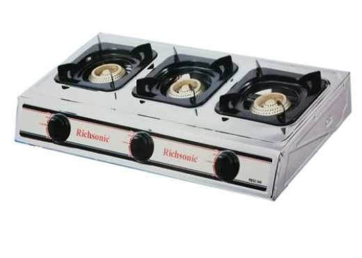 Richsonic Triple Burner Gas Cooker Stainless Steel
