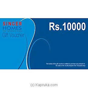 Singer Homes Gift Voucher Rs. 10000