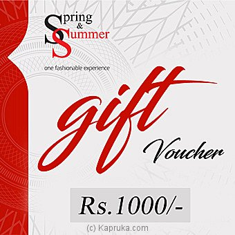 Spring & Summer Gift Voucher Rs. 1000