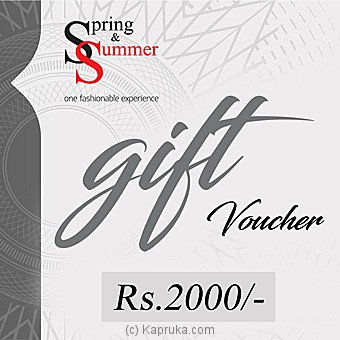 Spring & Summer Gift Voucher Rs. 2000