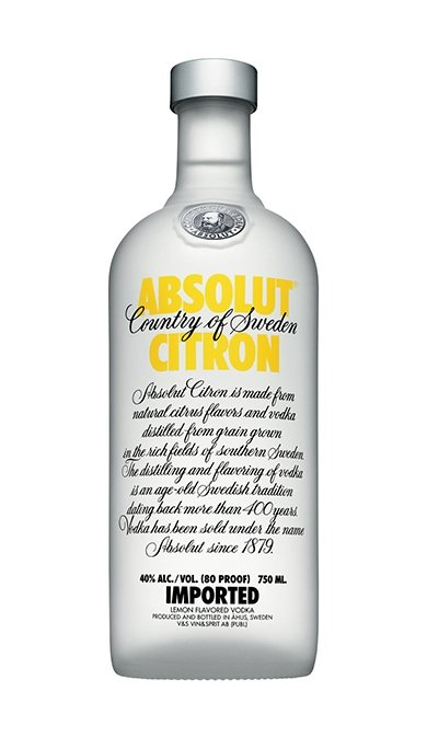 Absolut Vodka Citron 750ml