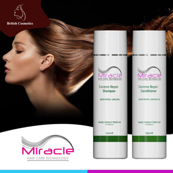 British Cosmetics Miracle Extreme Repair Shampoo & Conditioner 300ml