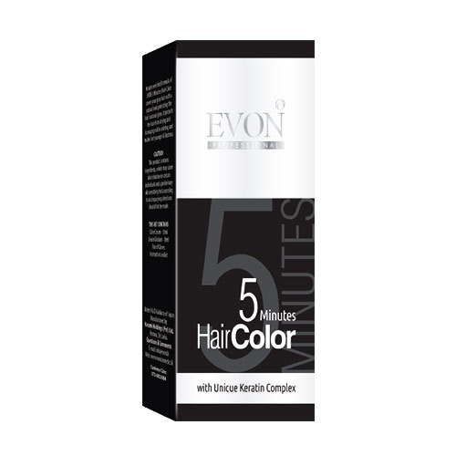 Evon 5 Minutes Hair Colour (Black) - 30 Ml