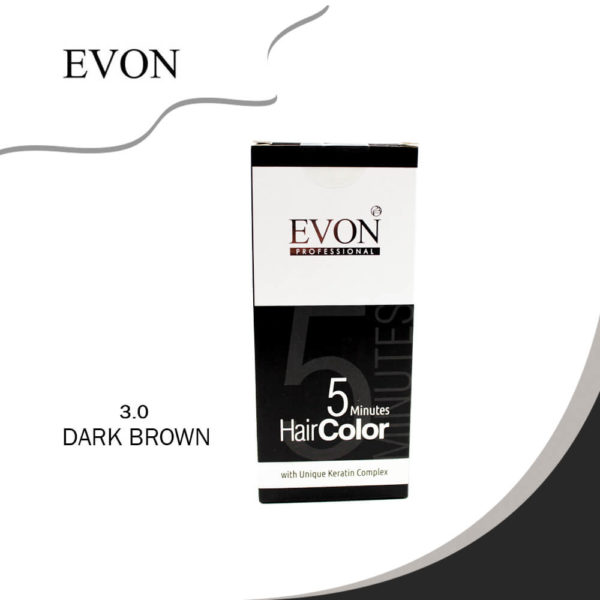 Evon 5 Minutes Hair Colour (3.0 Dark Brown) - 30 ML