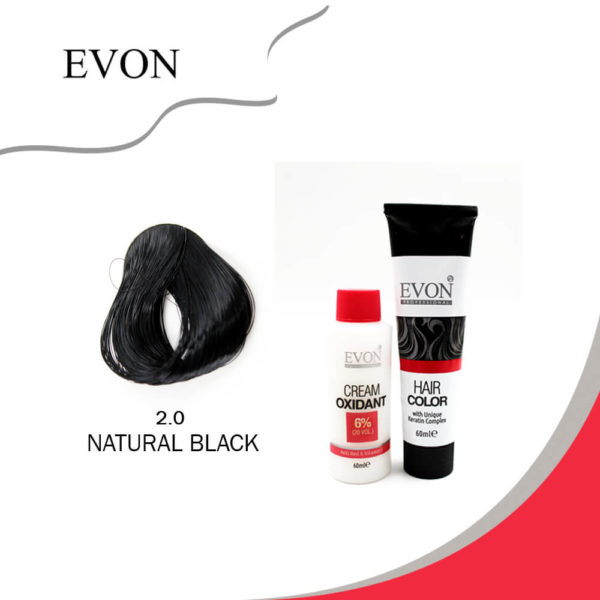 Evon Hair Color Natural Black 2.0 60ml
