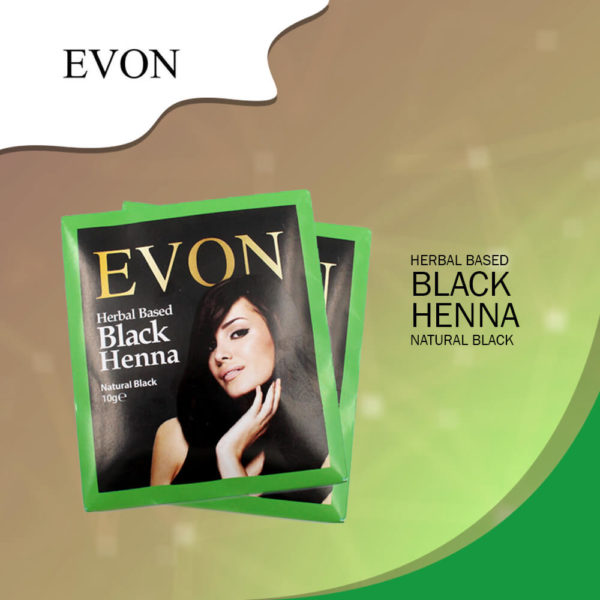 Evon Herbal Black Henna Natural Black 10G