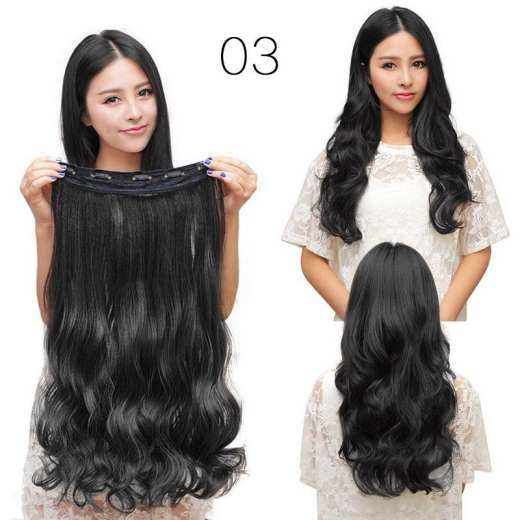 5 Clip in Curly Black Hair Extension - Fashion Style