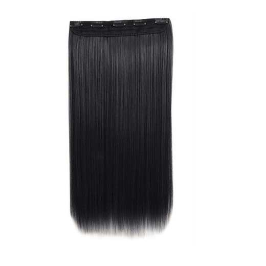 5 Clips in Hair Extension Magic Wig Matte Long False Straight Synthetic Hairpieces
