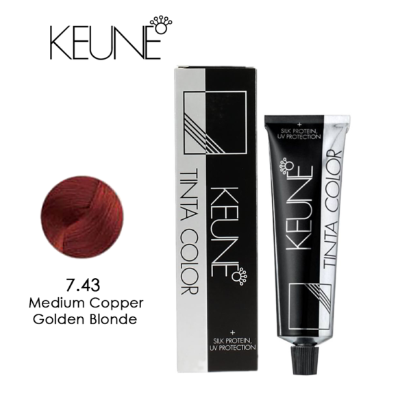 Keune Tinta Color No 7.43 Medium Copper Golden Blond 60ml