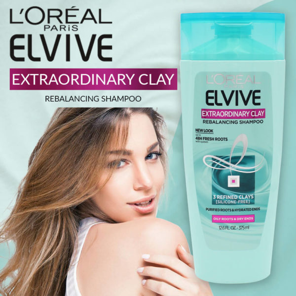 LOral Paris Elvive Extraordinary Clay Rebalancing Shampoo 375ML