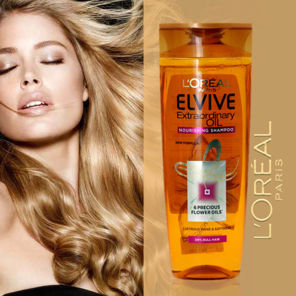 LOral Paris Elvive Extraordinary Oil Nourishing Shampoo 6 Precious Flower Oils'