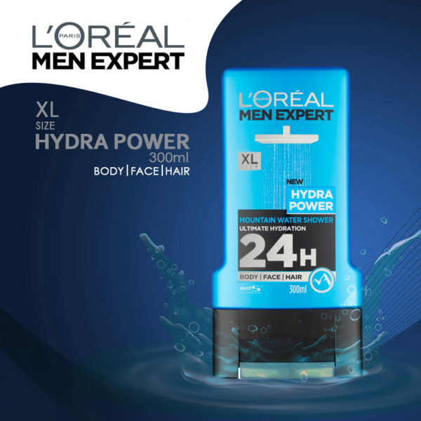 LOral Paris Hydra Power 24H Shower Gel 300ml