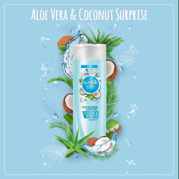 Sunsilk Aloevera Volume and Bounce Shampoo 80ML