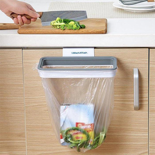 Attach-A-Trash Clip-On Trash Bag Holder
