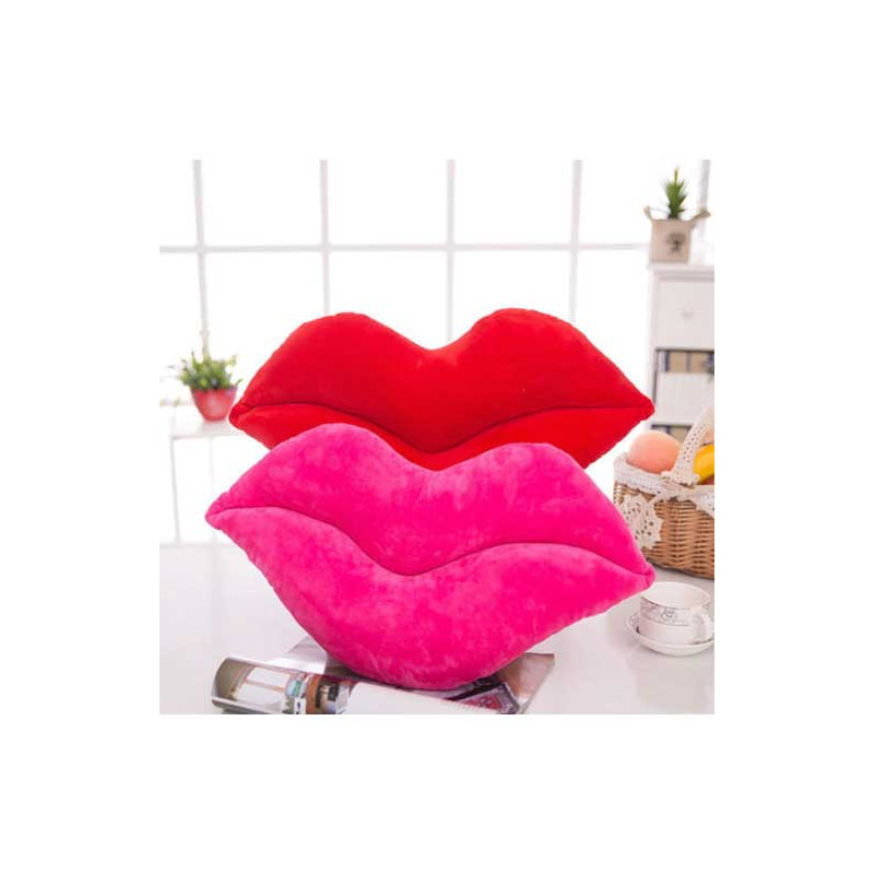 Lip Shaped Plush Pillow