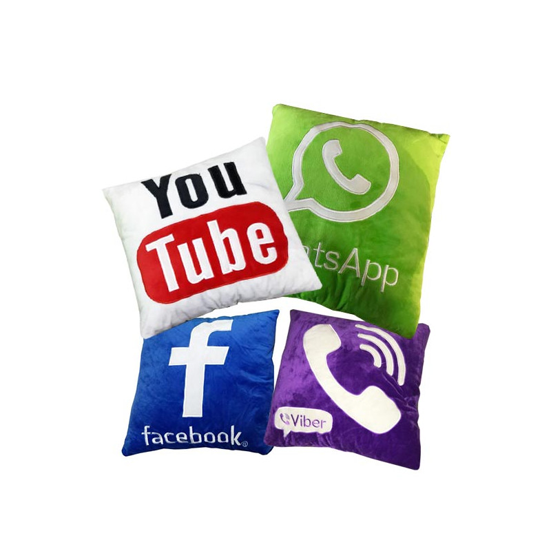 Social Media Soft Cushion Pillow
