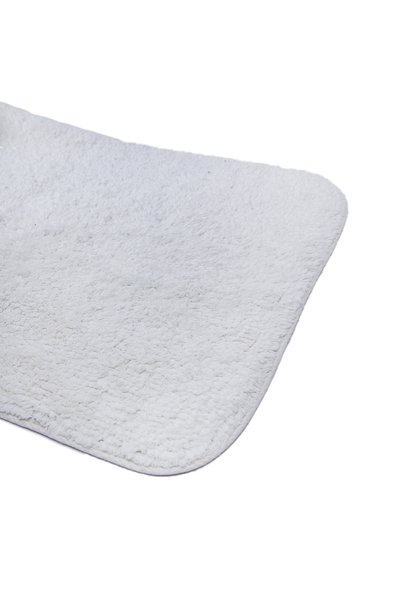 Solid White Bath Mat Set 2Pcs