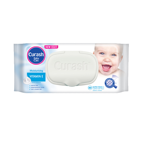 Curash Vitamin E Wipes 80pcs