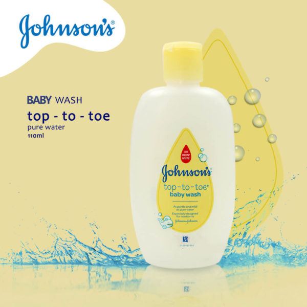 Johnson & Johnson Baby Wash Top To Toe Prue Water 110ML