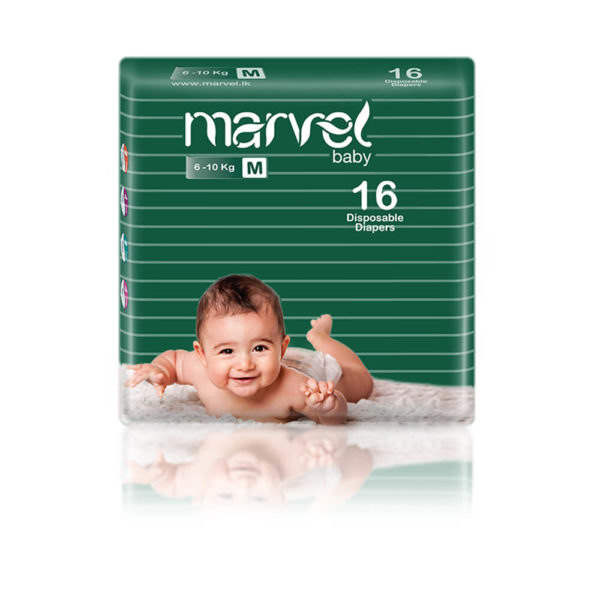 Marvel Baby Diapers M 16Pcs