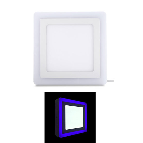RNA 12 Watts White + 4 Watts Blue Surface Panel Dual Tone LED Light Square